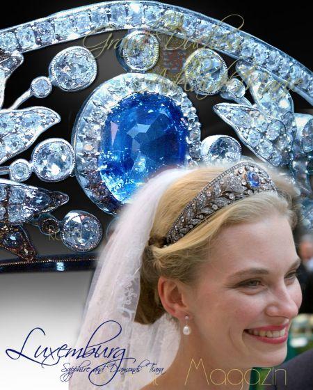 Nassau Sapphire and Diamond Tiara| Grand Duchess Adelaide Marie of Luxembourg | Archduchess Gabrielle of Habsburg| Wedding Princess Bourbon Parma| Erzherzogin Gabrielle von Österreich Hochzeits Tiara