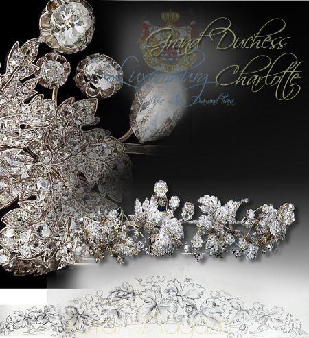 Le diadème aux feuilles de vigne Diamond Vine Leaves Tiara | Grand Duchess of Luxemburg| Köchert Tiara | Nassau-Weilburg Hausschmuck