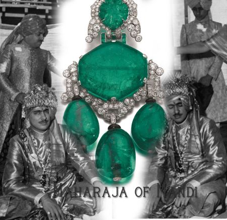 Cartier Emerald Pendant Brooch | Raja of Mandi Maharaja and Royal Ruler of India