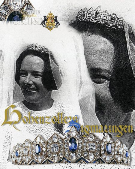 Dieses Bild hat ein leeres Alt-Attribut. Der Dateiname ist maria-alix-tiara-hohenzollern-edina-princess-diadem-wedding-marriage.jpg Royal Wedding Tiara : Meinrad Leopold Prince of Hohenzollern-Sigmaringen and Edina Baronin von Kap-Herr   | Hohenzollern Sapphire and Diamond Lozenge Tiara |  Wedding Tiara | Marriage Diadem Princess Hohenzollern-Sigmaringen-Emden Royal Jewels |  Prinzessin Edina und Prinz Meinrad Leopold von Hohenzollern Sigmaringen| Braut Tiara und Hochzeitsschmuck 1971 Adelshochzeit