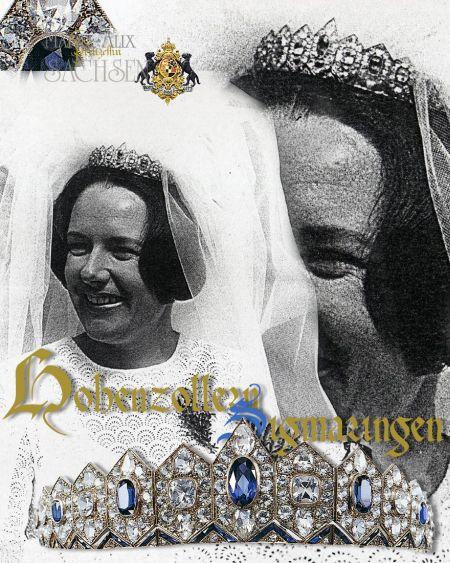 Dieses Bild hat ein leeres Alt-Attribut. Der Dateiname ist maria-alix-tiara-hohenzollern-edina-princess-diadem-wedding-marriage.jpg Royal Wedding Tiara : Meinrad Leopold Prince of Hohenzollern-Sigmaringen and Edina Baronin von Kap-Herr   | Hohenzollern Sapphire and Diamond Lozenge Tiara |  Wedding Tiara | Marriage Diadem Princess Hohenzollern-Sigmaringen-Emden Royal Jewels |  Prinzessin Edina und Prinz Meinrad Leopold von Hohenzollern Sigmaringen| Braut Tiara und Hochzeitsschmuck 1971 Adelshochzeit