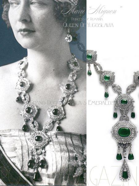 Empress Marie Alexandrovna Romanov Emeralds Grand Duchess Elisabeth Feodorovna | Russia Historic Emeralds Queen Mignon of Yougoslavia Serbia
