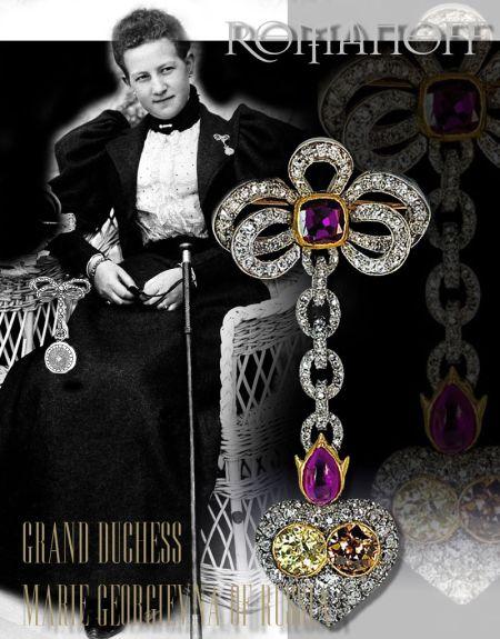 Diamond and ruby heart shaped Faberge pendant watch |Grand Duchess Marie Georgienva of Russia |Princess Maria of Greece and Denmark|Romanov Royal faberge fabergebrooch faberge heart Jewel History