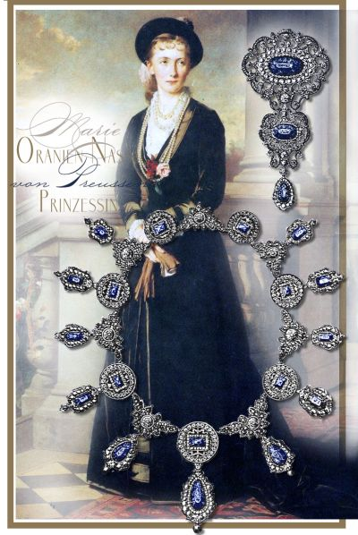 Prinzessin Marie von Preussen| Sapphire Parure Diadem Tiara Diamond Jewelry|Royal Imperial Oranien-Nassau Jewels | Princess Heinrich of the Netherlands
