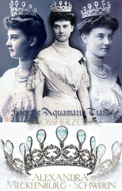 Triumph of Love Aquamarine and Diamond Tiara Fabergé | Princess Alexandra of Hanover-Cumberland Wedding Gift of her husband Grand Duke of Mecklenburg-Schwerin