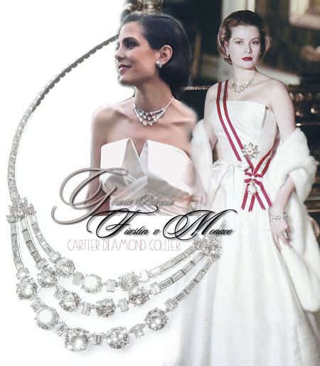"Princess Grace Cartier Diamond Necklace | Wedding Present of the ""organismes monégasques"" 
