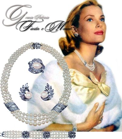 Princess Grace of Monaco |Royal Wedding Gift | Van Cleef & Arpels Pearl Parure