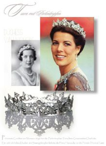 Princess Charlotte of Monaco, Duchess of Valentinois Pearl Diamond Tiara | Diadem Princess Caroline of Hannover | Royal Jewels