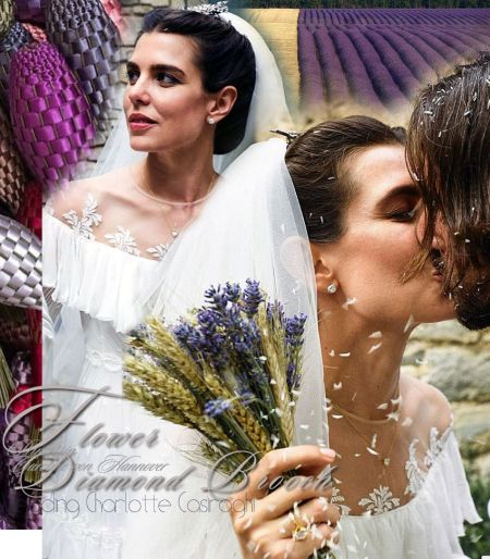 Royal Wedding Grimaldi|CHAUMET Reed Brooch|Wedding Jewelry Charlotte Casiraghi