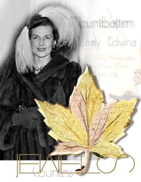 Canadian Maple Leaf Ottawa Women's Canadian Club |Countess Mountbatten of Burma|Lady Edwina Royal Jewels History