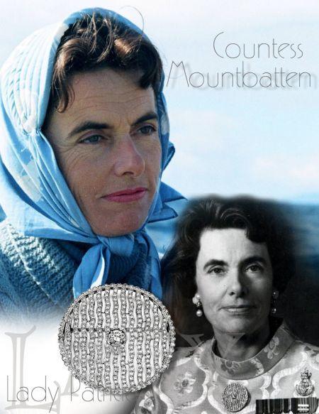 Wave Diamond Brooch |Patricia Knatchbull, 2nd Countess Mountbatten of Burma|Lady Edwina Royal Jewels History
