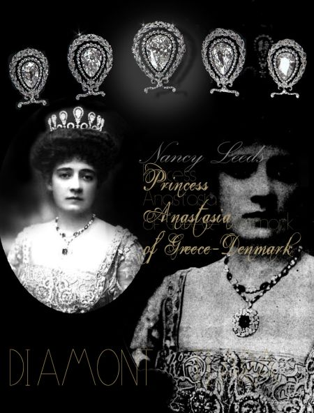 Anastasia Princess of Greece-Denmark|Famous Pearls Pearl strings Pearl necklace |Marriage Royal Jewels History Pearls