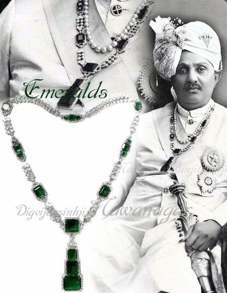 The Nawanagar Emerald-Necklace | Sketch | Design | Details
