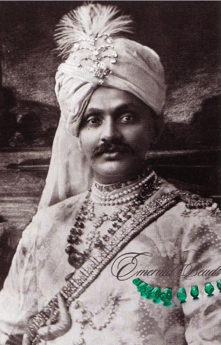 Ranjitsinhji's Necklace| Maharaja & Mughal Emerald| Royal Jewelry India  DDDdiamond Aigrette - Diamond collier diamond emerald beads