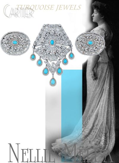 Dame Nellie Melba | Belle Epoque Turquoise and DiamondBrooches Cartier| Noble Jewel History