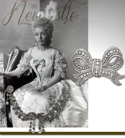 Duchess of Newcastle imperial diamond bow-brooch