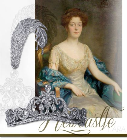 Diamond Tiara with Plume brooch |Noble Jewelry | Duchess of Newcastle Jewels