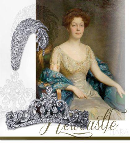 Diamond Tiara with Plume brooch |Noble Jewelry | Duchess of Newcastle Jewels