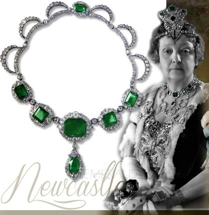 newcastle emeralds necklace duchess