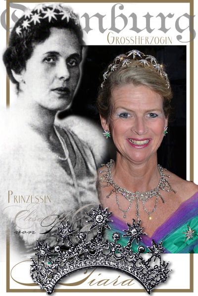 Princess Elisabeth Anna of Prussia | Oldenburg| Diamond star Tiara Wedding Gift of the Kaiser