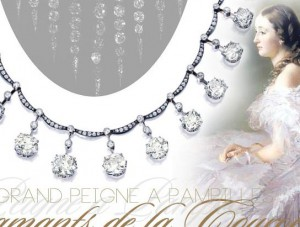 Grand Peigne de Pampilles | Diamants de la couronne Empress Eugenie