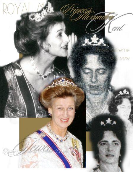 Sapphires Princess Alexandra Sapphire tiara Princess Alexandra of Kent Lady Ogilvy| Ogilvy Diamond Flower Tiara | British Royal Jewel History Windsor |  lady Brandram, Katherine Princess Katherine of Greece and Denmark