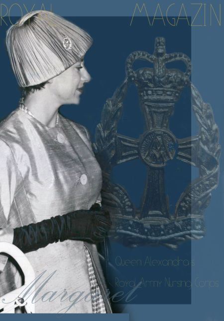 Queen Alexandra's Nursing Corps Badge Brooch| Princess Margaret of England Great Britain Countess Snowdon| Royal Jewel History QARANC Brooch Royal Pin Royal Badge