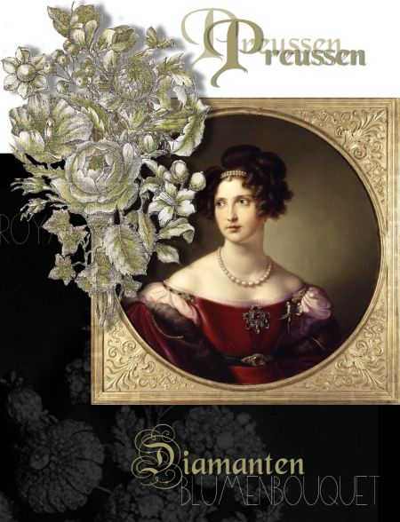 Large Devante de Corsage of Diamond Princess Elisabeth of Bavaria | Crown Princess of Preussen|Queen of Prussia Hohenzollern