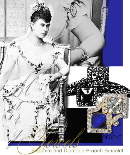 Queen Mary | Wedding Gift |Tsar and Empress of Russia| Imperial Sapphire and Diamond Brooch Bracelet