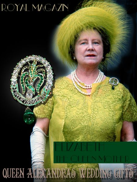 Emerald and Diamond Brooch of the Ladies of North Wales | Royal Wedding Present Queen Alexandra| Queen Elizabeth the Queen Mother on the Investiture of Prince of Wales