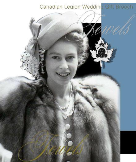 Queen Elizabeth II | Maple Leaf Diamond Brooch Canadian Legion Wedding Gift| Royal Jewels England