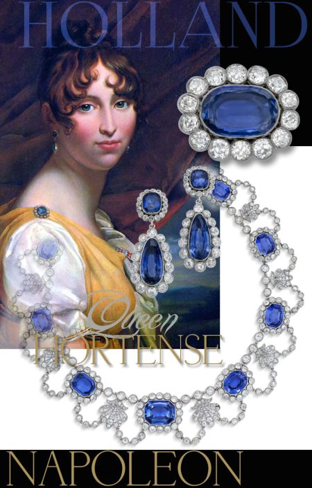 Queen Hortense Holland Sapphire Parure | Imperial Jewels| NAPOLEON Bonaparte  Beauharnais , Grand Duchess Stephanie of Bade Grossherzogin von Baden