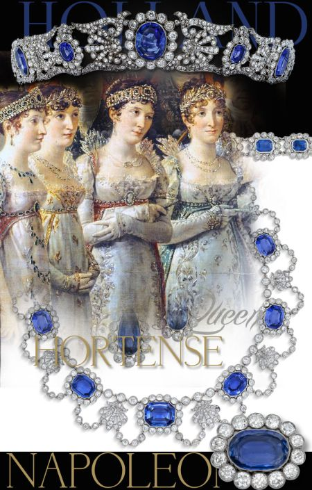 Bandeau sapphire tiara sapphire diadem, Queen Hortense Holland Sapphire Parure | Imperial Jewels| NAPOLEON Bonaparte  Beauharnais , Grand Duchess Stephanie of Bade Grossherzogin von Baden