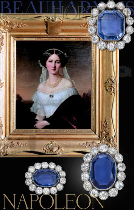 Fürstin Josephine von Hohenzollern Sigmaringen | Princess of Baden | Saphir-Diamant Diadem History | Imperial Royal Sapphires Queen Hortense of Holland