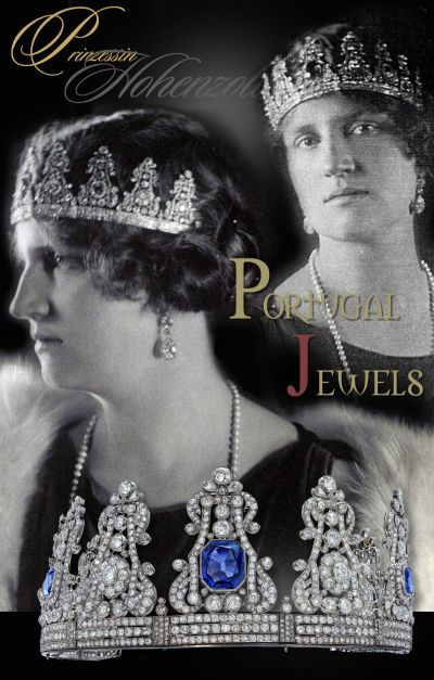 Fürstin Margarethe of Hohenzollern-Sigmaringen | Sapphire and Diamond Crown Queen Maria da Gloria II Portugal Royal Jewels History |German Royal Jewelry