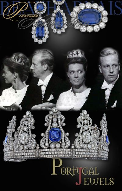 Princess Birgitta of Hohenzollern-Sigmaringen | Sapphire and Diamond Crown Queen Maria da Gloria II Portugal Royal Jewels History | Queen Hortense of Holland Parure| German Royal Jewelry  Princess of Sweden portugal crown jewels