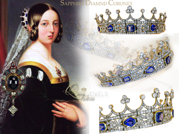 Queen Victoria's Sapphire and Diamond Coronet