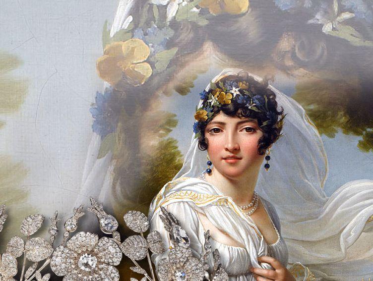 Queen of Naples Caroline Bonaparte Tiara Chaumet wild Roses