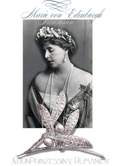 Princess Marie of Edinburg | Queen of Romania| Royal Jewel Boucheron Diamond hair ornament Misteltoe