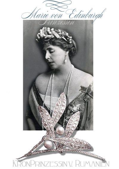 Princess Marie of Edinburg | Queen of Romania| Royal Jewel Boucheron Diamond hair ornament Misteltoe
