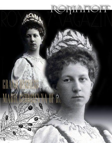 Imperial Ruby Wreath Tiara|Grand Duchess Olga Fjodorowna Romanov Rubies |Grand Duchess Maria Georgievna of Russia| Princess Maria of Greece and Denmark