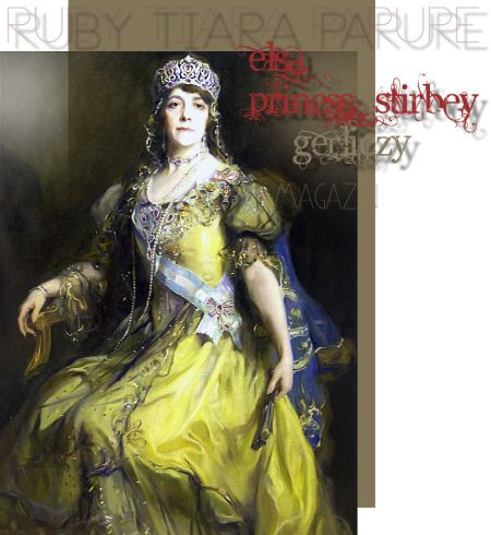 Princess Elsa Stirby Bibesco Baroness Gerliczy |Ruby and Diamond Tiara Ruby Diamond Parure |Hungary Royal Imperial Jewels Magnate