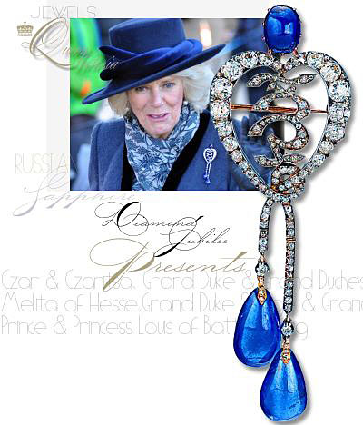 Russian Diamond and Sapphire Brooch | Presented to Queen Victoria on her diamond jubilee