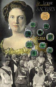 Smaragdschmuck mit Diamanten des August des Starken von Sachsen | Kronprinzessin Louise von Sachsen Erzherzogin von Toskana | Hochzeit Juwelen Geschenke
