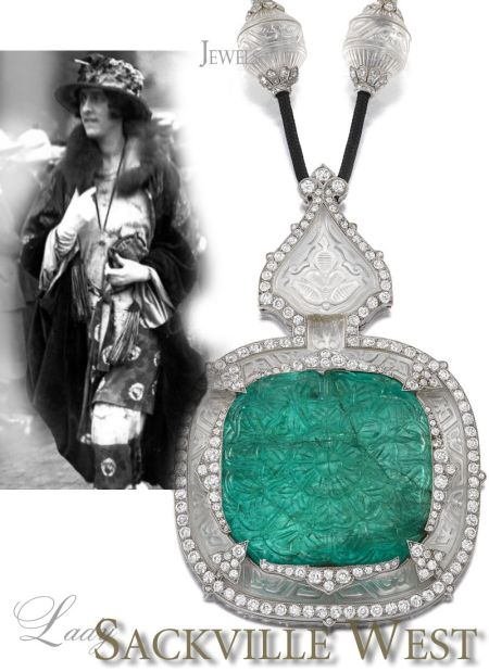 Emerald Wedding |Victoria Sackville, Vita Sackville West,Lady Sackville-West |Famous Cartier Emerald Necklace Sautoir Jewelry