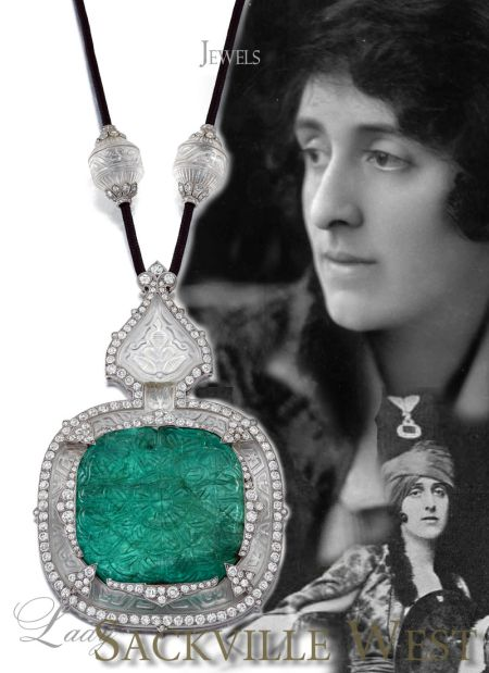 Famous Cartier Emerald Necklace Sautoir | Victoria Sackville, Vita Sackville West,Lady Sackville-West |Jewelry  Details of the Cartier Sautoir - Mughal Style - Magnificent Emerald