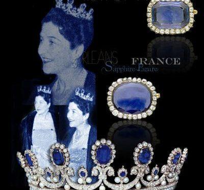 Orleans Saphir Diamant Parure- Schmuck der Königin Marie Amelie von Frankreich