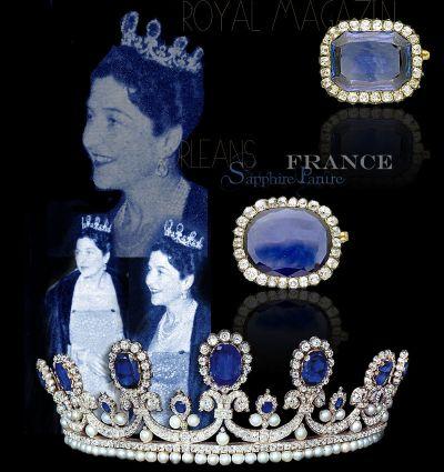 Royal Saphires Orleans | Imperial and Royal Sapphire Queen Marie Amelie of France | Marie Amelie Reine des Français Orleans Saphir Diamant Parure- Schmuck der Königin Marie Amelie von Frankreich|Königlicher Schmuck und die Geschichte