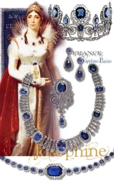Saphir Diamant Parure- Schmuck der Kaiserin Josephine von Frankreich