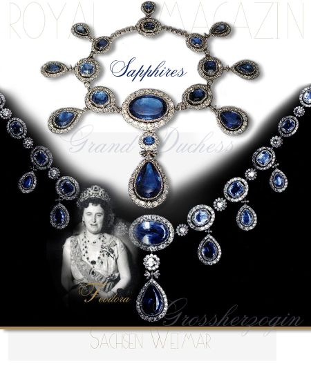 Grand Duchess Maria Pavlovna Romanova | Sapphire Diamond Necklace Tsar's Daughter |Saxe-Weimar Royal Imperial Jewels